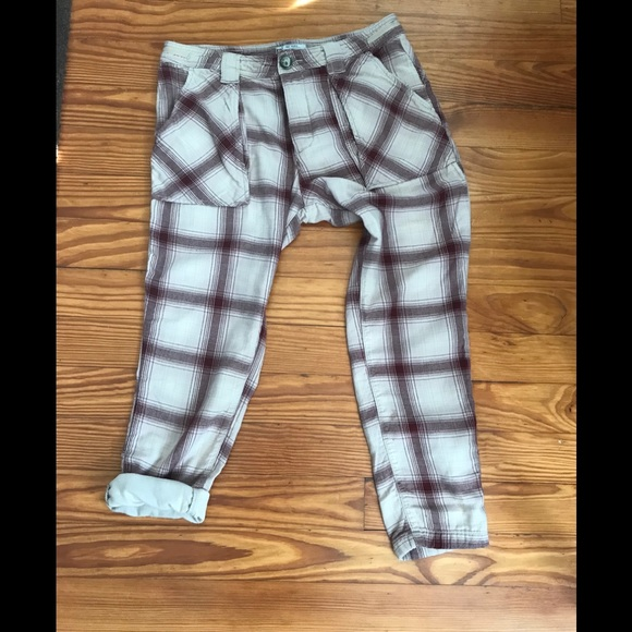 Free People Pants - Free people cropped flannel plaids
